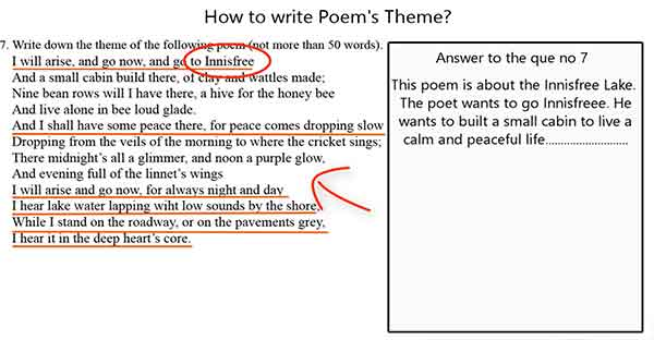 poem theme writing