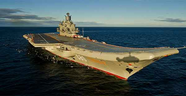 admiral kuznetsov russian aircraft carrier